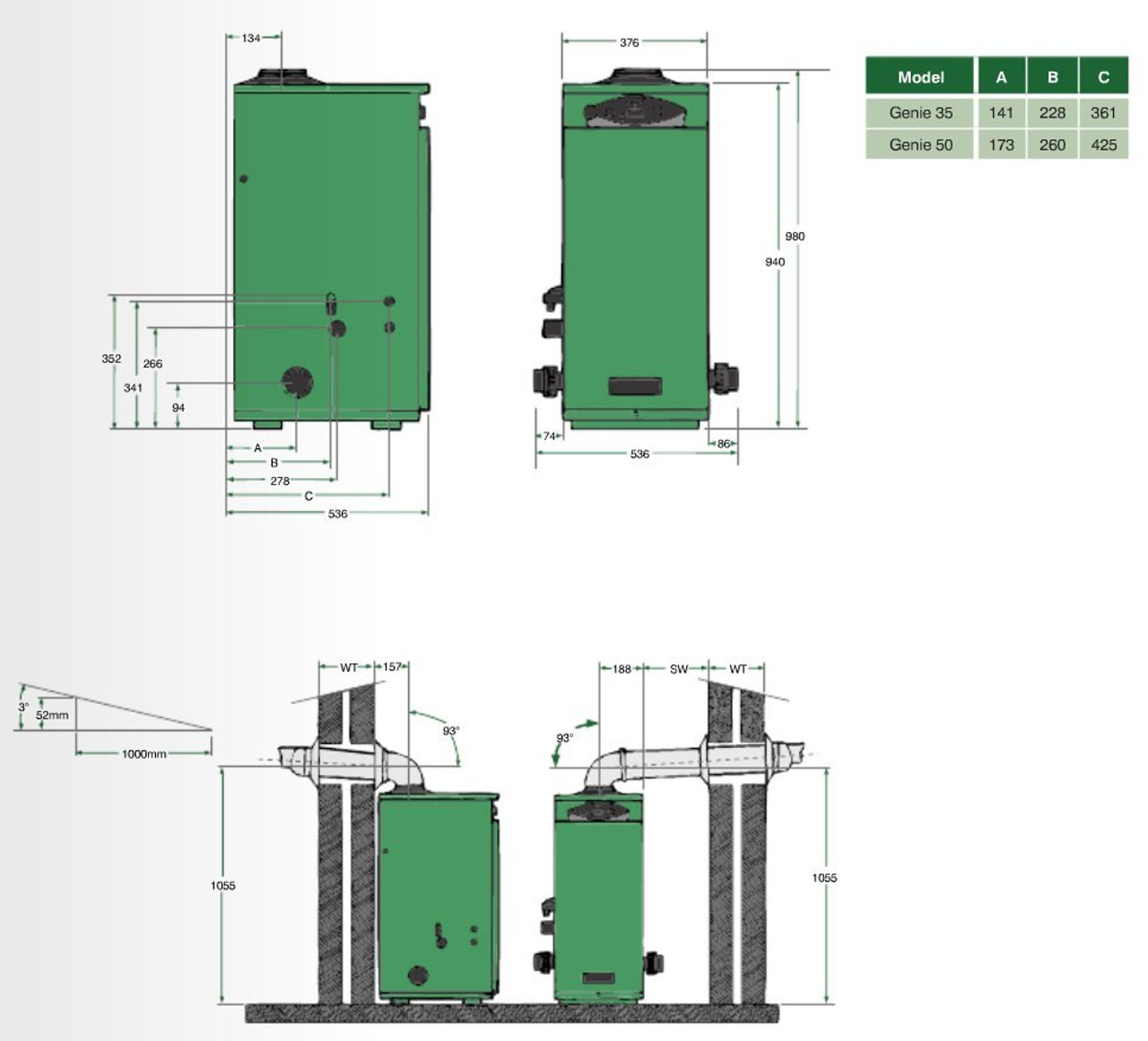 Genie condensing boiler swimming pool heater