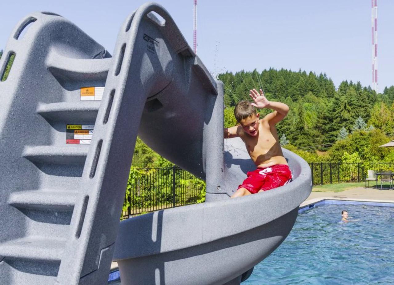 SR Smith Helix 2 Swimming Pool Slide 360 Degree Flume