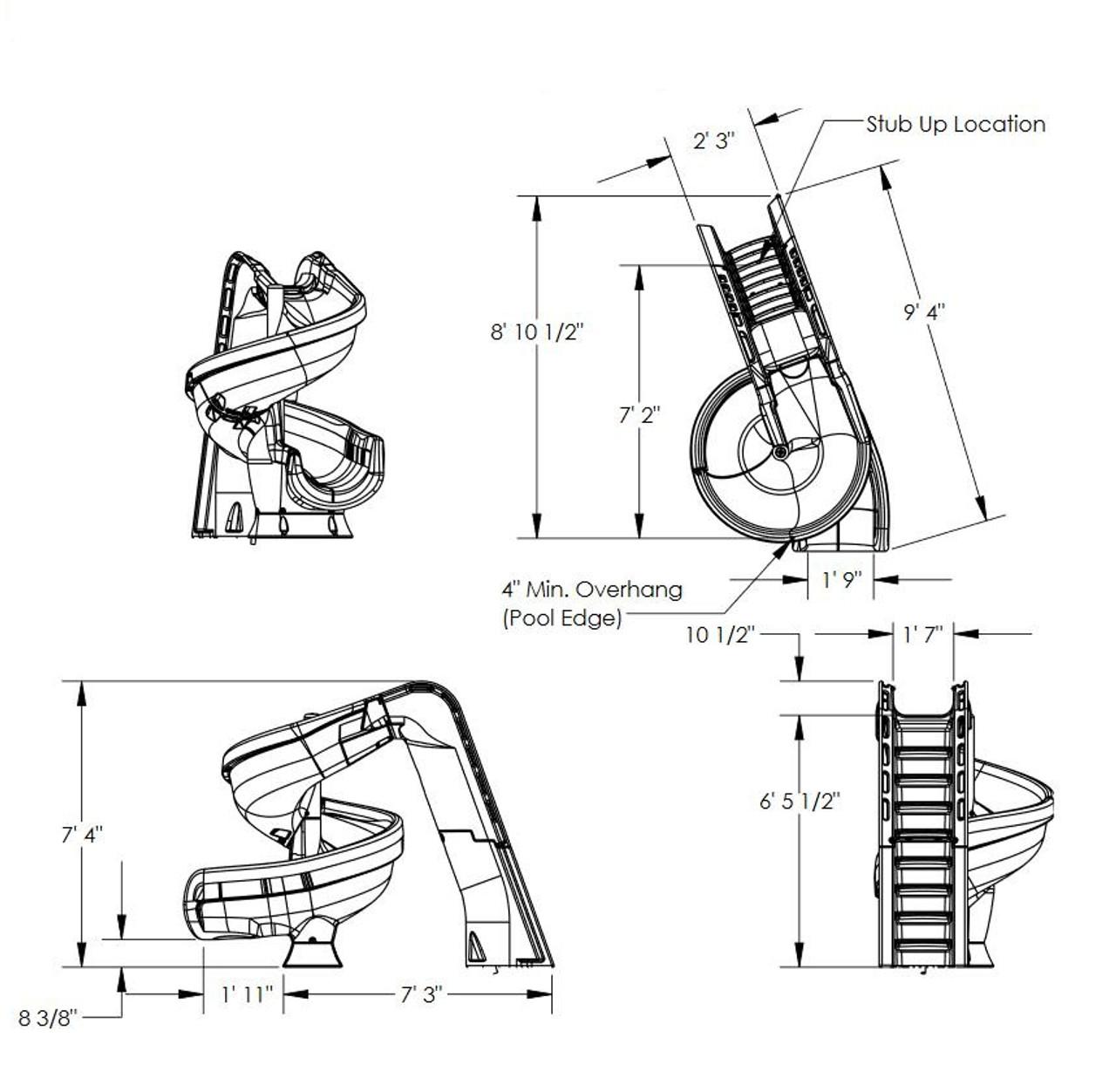 SR Smith Helix 2 slide dimensions