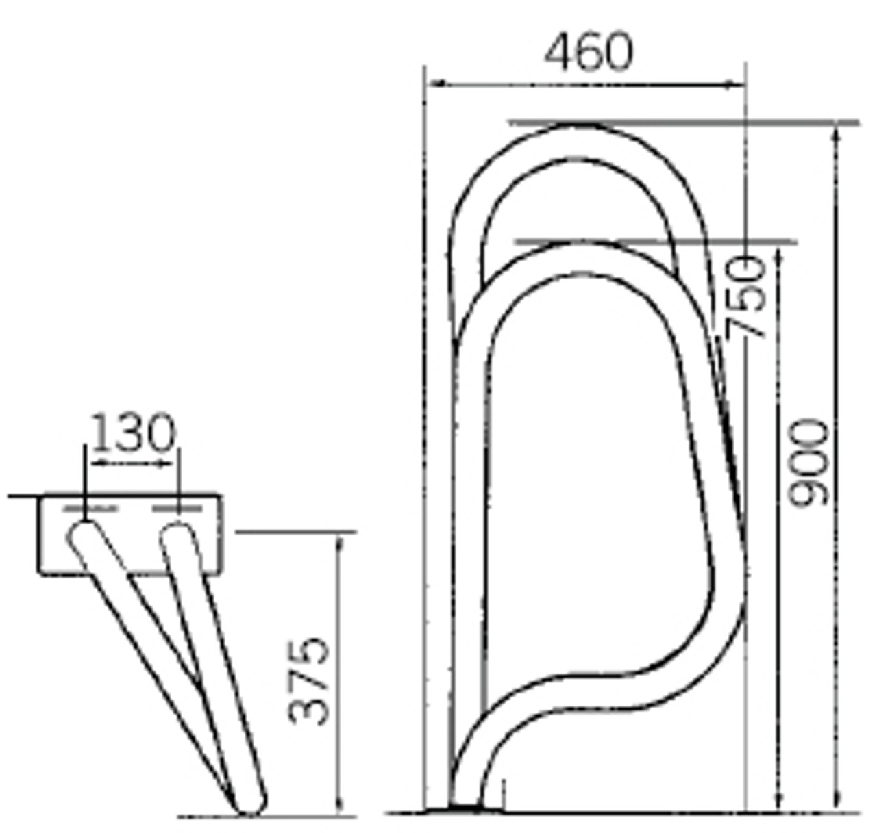 Astral Crossover Swimming Pool Exit Grab Rails Bars Handles Dimensions