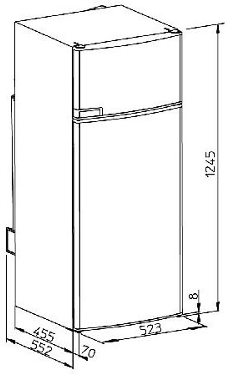 Dometic RMD 8551 Caravan Motorhome Fridge Refrigerator Dimensions