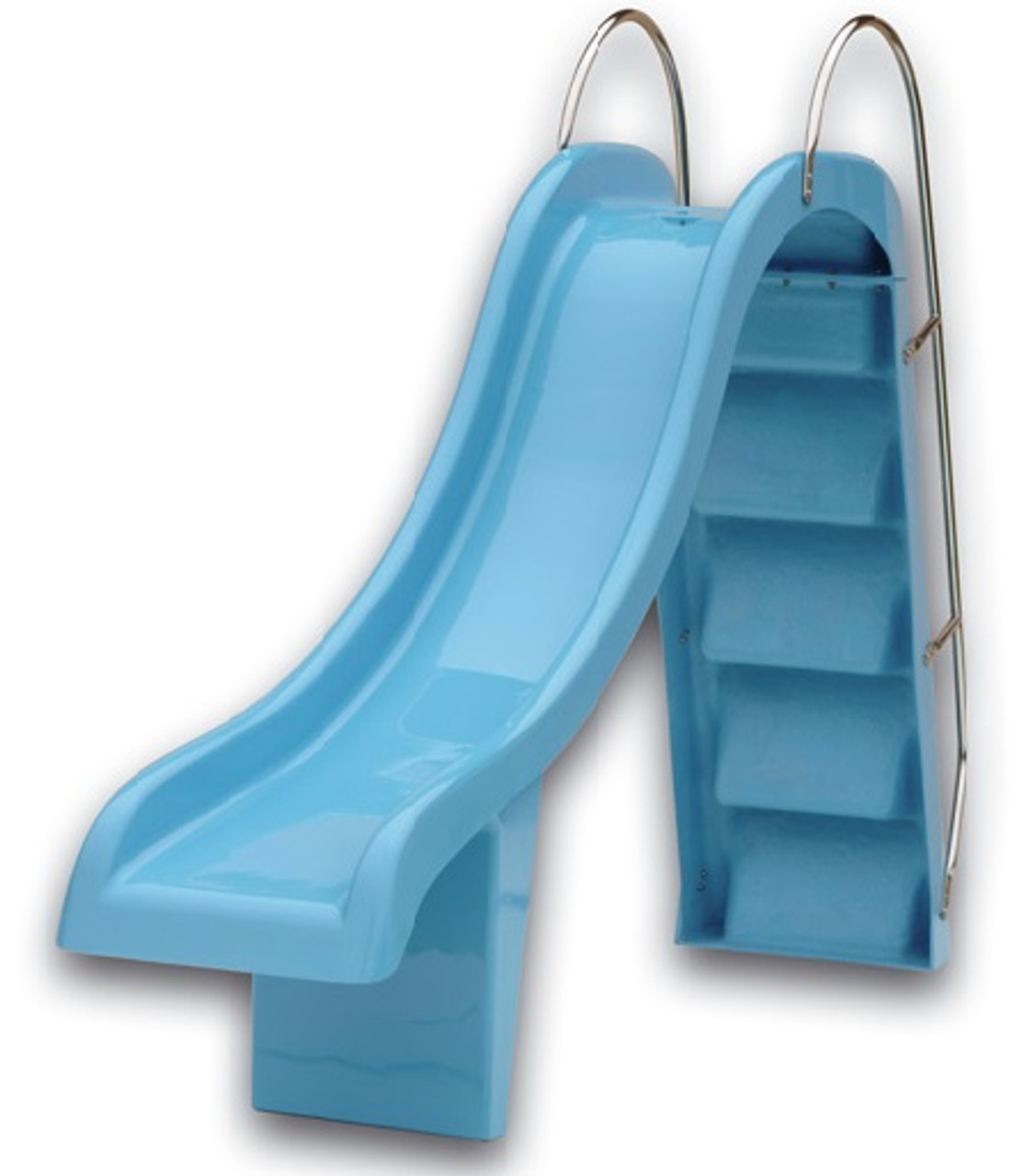 Blue Straight Swimming Pool Water Slide