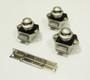van conversion push button mini draw lock - nickel & nickel backset