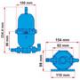 Fiamma A20 Universal Expansion Pump Tank Dual Measurements