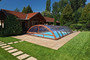 Sun Sky Cross Section Telescopic Swimming Pool Enclosure