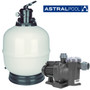 Astral Aster top mount filter with Astral Sena swimming pool pump.