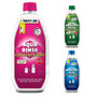 Ideal for your porta potti or cassette toiler the Thetford Aqua Kem and Rinse concentrate are now available in a duo pack with pink flush chemical and a choice of either blue or green septic tank safe waste tank fluid