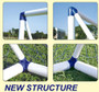 Durable, high impact and easy to assemble frames of the football goal post