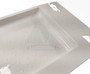 Universal shower tray with recessed space for plug hole