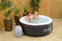 Bestway Lay-Z-Spa Miami can fit 2-4 people