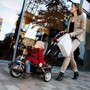 Puky Ceety trike pushchair combination out and about