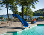 Swimming Pool Water Slide curved
