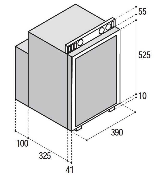 Vitrifrigo VTR5040 3 way compact LPG 12v 230v gas mains electric caravan fridge