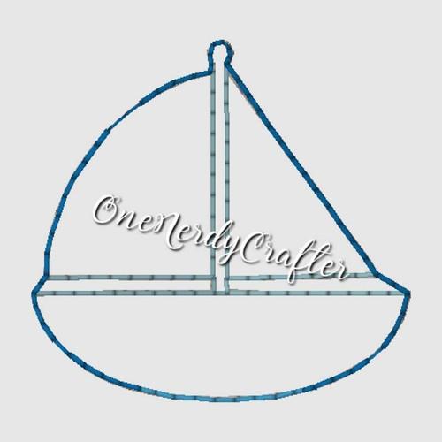 Sailboat Flasher Feltie Embroidery Digital Design File