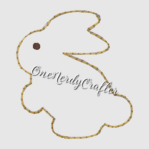 Bunny Flasher Feltie Embroidery Digital Design File