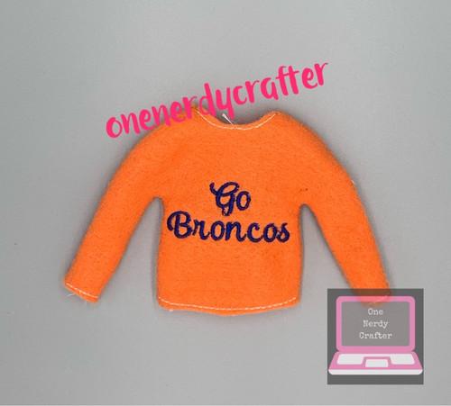 Go Broncos Elf Sweater