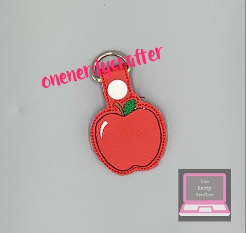 Apple/ Teachers Keychain