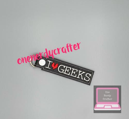 I Heart Geeks Keychain