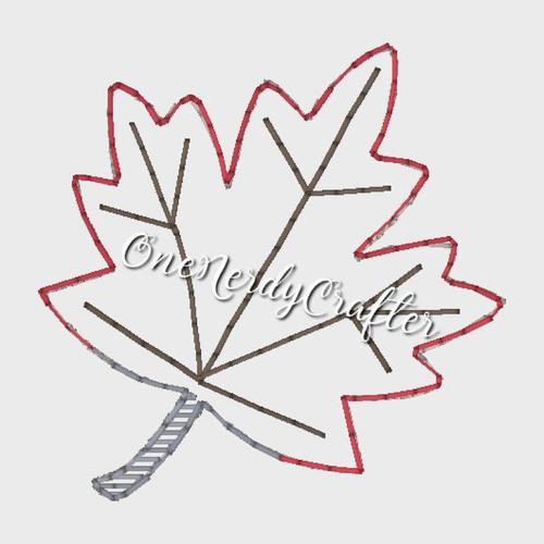 Leaf Flasher Feltie Embroidery Digital Design File
