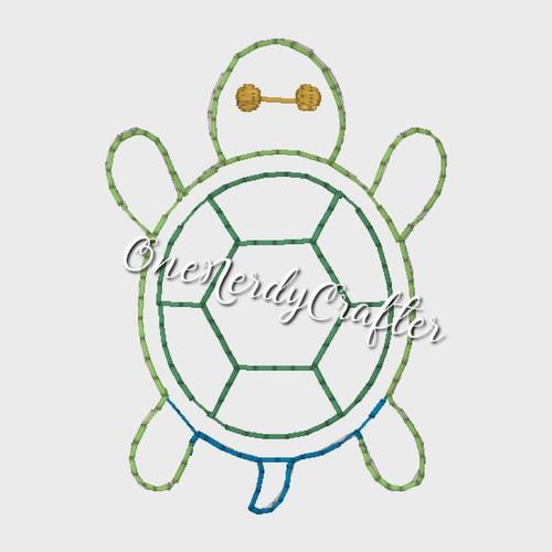 Turtle Flasher Feltie Embroidery Digital Design File