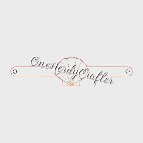 Seashell Flashing Bracelet Embroidery Digital Design File