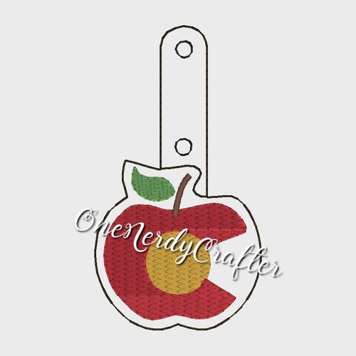 Colorado Teachers Apple Embroidery Digital Design File