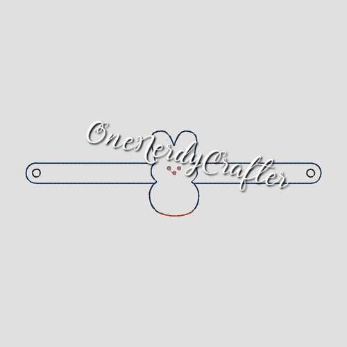 Easter Flasher Bracelet Embroidery Digital Design File (Peep & Egg)