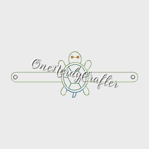 Turtle Flashing Bracelet Embroidery Digital Design File