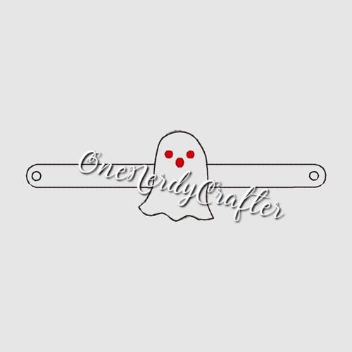 Ghost Halloween Flashing Bracelet Embroidery Digital Design File