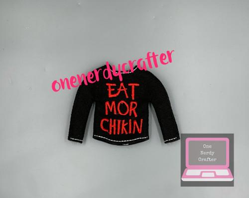 Eat More Chicken Elf Sweater