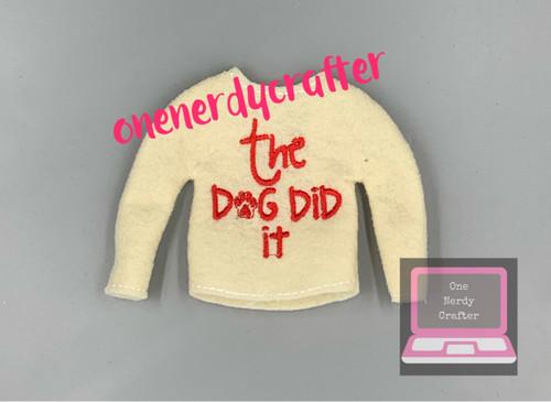 The Dog Did It Elf Sweater