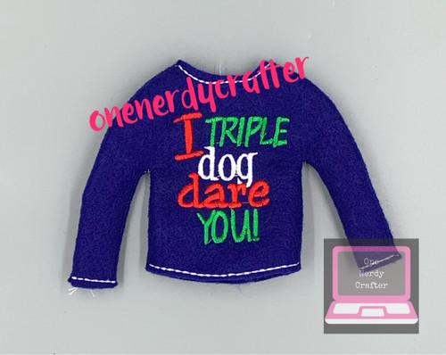 Triple Dog Dare You Elf Sweater