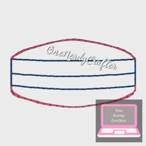 Small Doll/Elf Germ Mask Embroidery Digital Design File