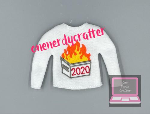 2020 Dumpster Fire  Elf Sweater