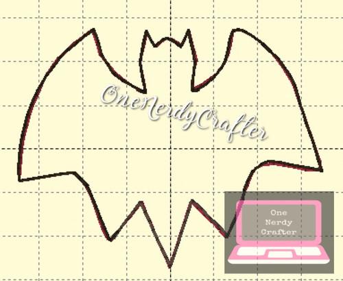 Bat Flasher Feltie Embroidery Digital Design File