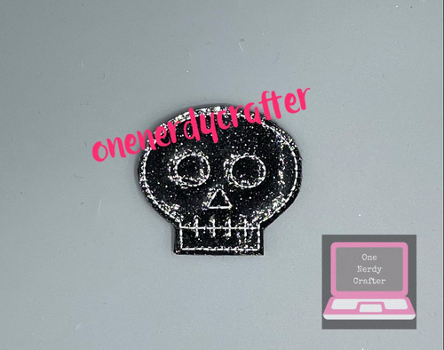 Skull Flasher Feltie Embroidery Digital Design File