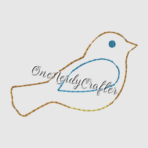 Bird Flasher Feltie Embroidery Digital Design File