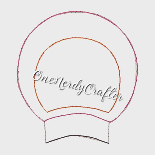 Round Ears Flasher Embroidery Digital Design File
