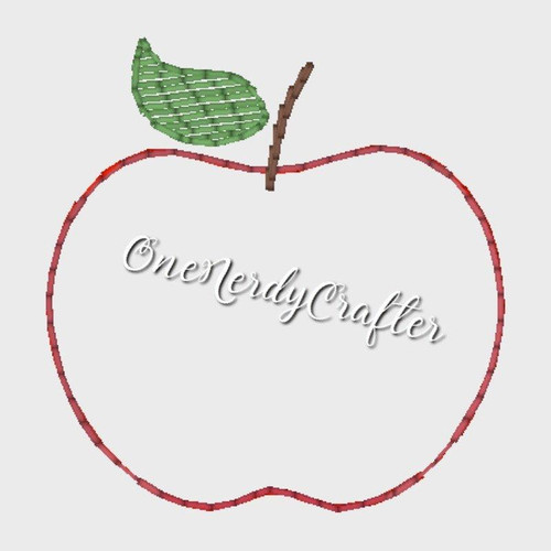 Apple Flasher Feltie Embroidery Digital Design File