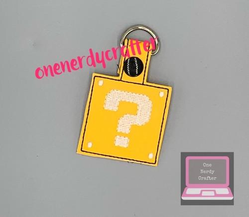 ? Mark Box Keychain