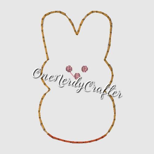 Easter Peep Flasher Feltie Embroidery Digital Design File