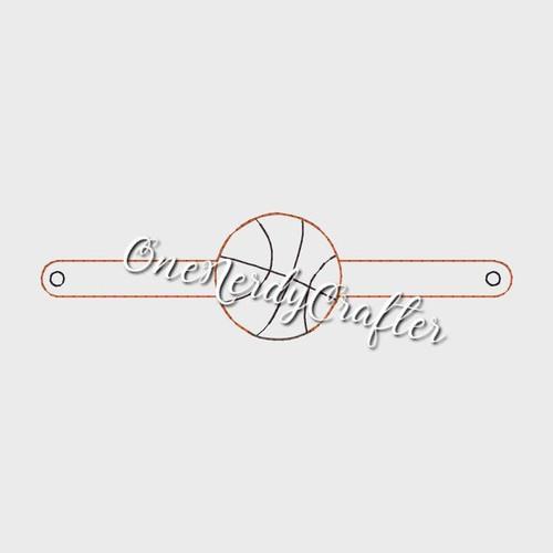 Basketball Flasher Bracelet Embroidery Digital Design File