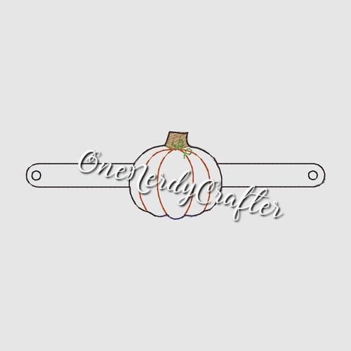 Pumpkin Halloween Flashing Bracelet Embroidery Digital Design File