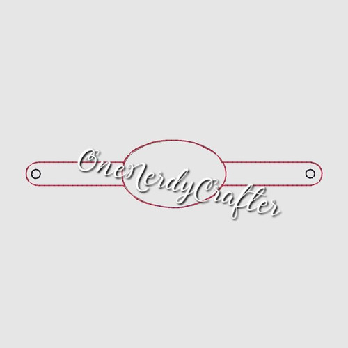 Blank Oval Flashing Bracelet Embroidery Digital Design File