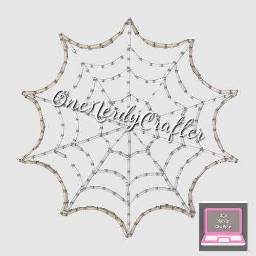 Spiderweb Flasher Feltie Embroidery Digital Design File