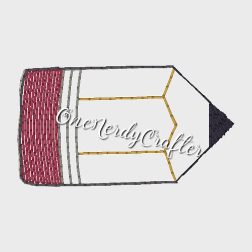Pencil Flasher Feltie Embroidery Digital Design File