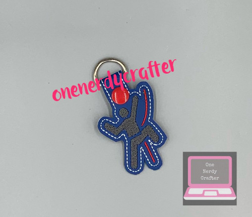 Climber / Climbing Snap Tag /Keychain Embroidery Digital Design File