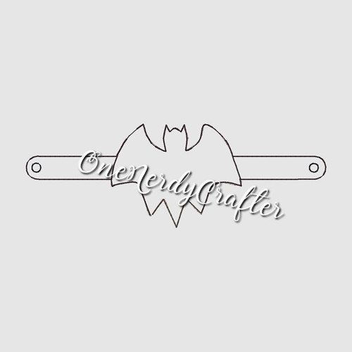 Bat Flashing Bracelet Embroidery Digital Design File