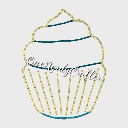 Cupcake Flasher Feltie Embroidery Digital Design File
