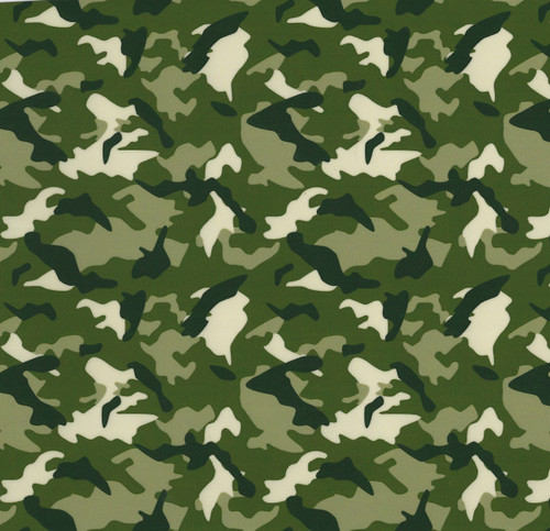 "Green Camo Thermoflex Fashion Patterns 12"" x 12"" Sheets (Click for Quantities)"